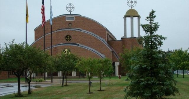 St. John Greek Orthodox Church in Sterling Heights, MI. Photo: jim_dina http://www.panoramio.com/