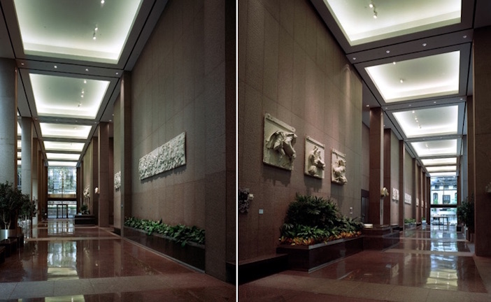 The Parthenon Marbles Casts in the Atrium of Olympic Tower in New York City
