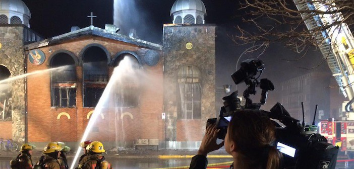 Fire at Koimisis Tis Theotokou Greek Orthodox Church in Park Extension
