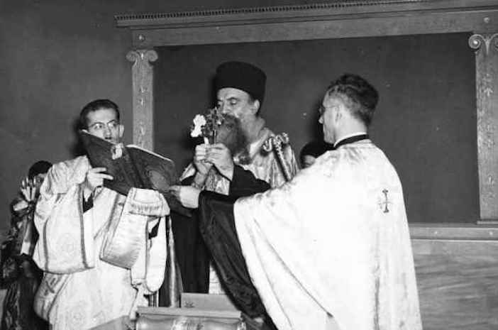 Dedication of the Greek Room of the University of Pittsburgh by Archbishop Athenagoras in November 1941
