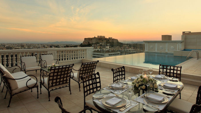 Imagine your breakfast here, with that sunrise behind the Parthenon