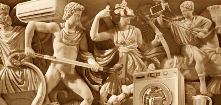 After Laptop Discovery, Ancient Greeks Now Credited with Washers, Electric Sweepers— Even Selfie Sticks!