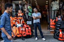 A shop in Izmir, Turkey catering to refugees and smugglers