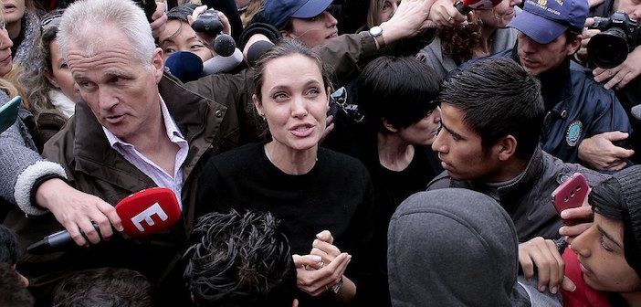 Photos Angelina Jolie Latest Hollywood Celebrity To Visit Refugees In Greece