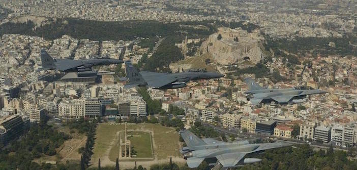Photos, Video) Greek, US Air Force Jets Fly Over Acropolis in Joint  Exercise - The Pappas Post