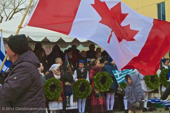(Photos) Toronto Greeks Brave Chilly Weather to Celebrate Greek Independence Day
