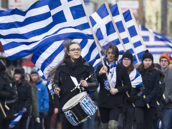 (Photos-Video) Canadian Prime Minister Honors Greeks by Marching in Montreal's Greek Independence Day Parade
