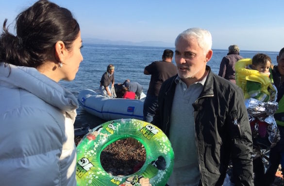 Canadian Billionaire and Lionsgate Films Founder Frank Giustra Opens Housing Facility for Refugees in Northern Greece