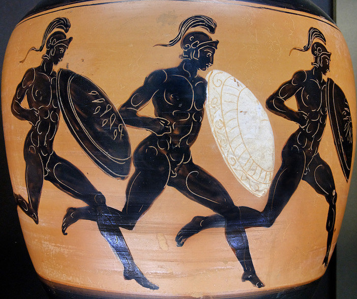 Leonidas prefers a likeness of him during the Hoplitodromos, or race with armor.