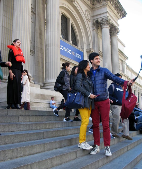 NYC Artist Silently Protests and Enlightens, One #OrangeVest at a Time