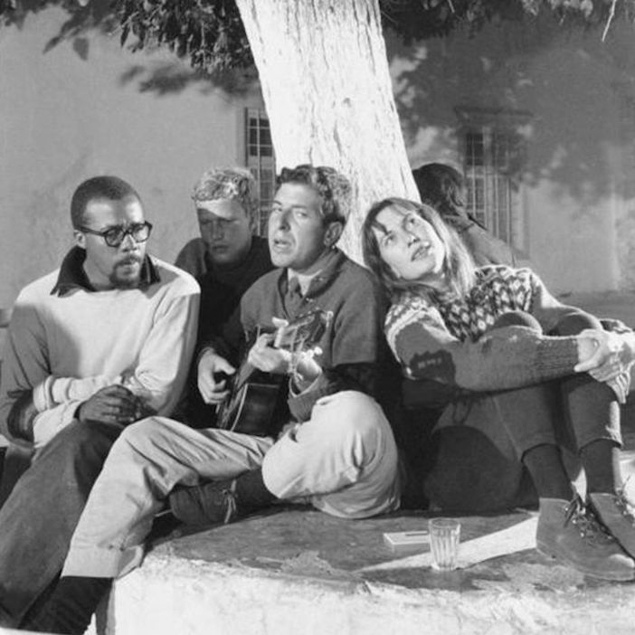 Leonard and friends in the 1960s on the island of Hydra