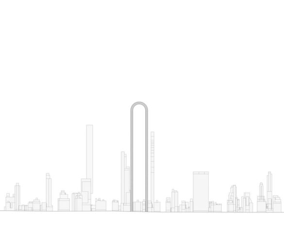 """A Greek Architect Wants to Twist Up the Famed NYC Skyline with his """"Big Bend"""" Concept"""