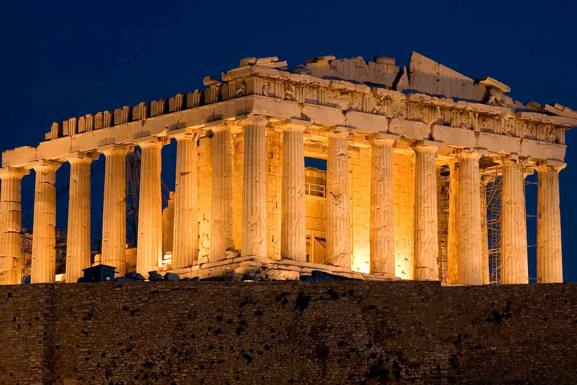 (Video) Stunning Drone Video of Acropolis at Night - The ...