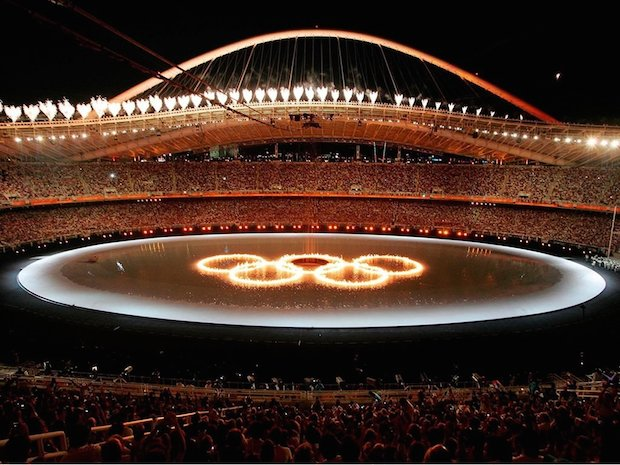 ATHENS 2004 Opening  Ceremony Rings