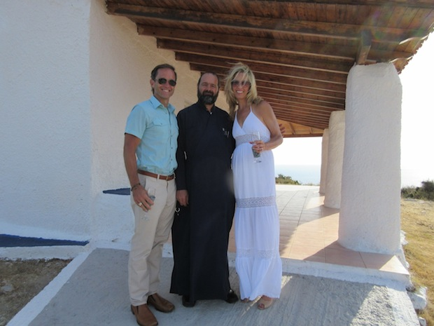 Mike, Laura and Fr. Christophoros