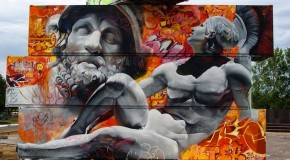 (Photos) Really Cool Greek Gods Graffiti in Belgian Arts Festival