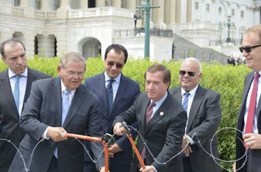 Dems, Republicans Cut Barbed Wire in Symbolic Gesture to Call to an End of 40-Year Cyprus Division